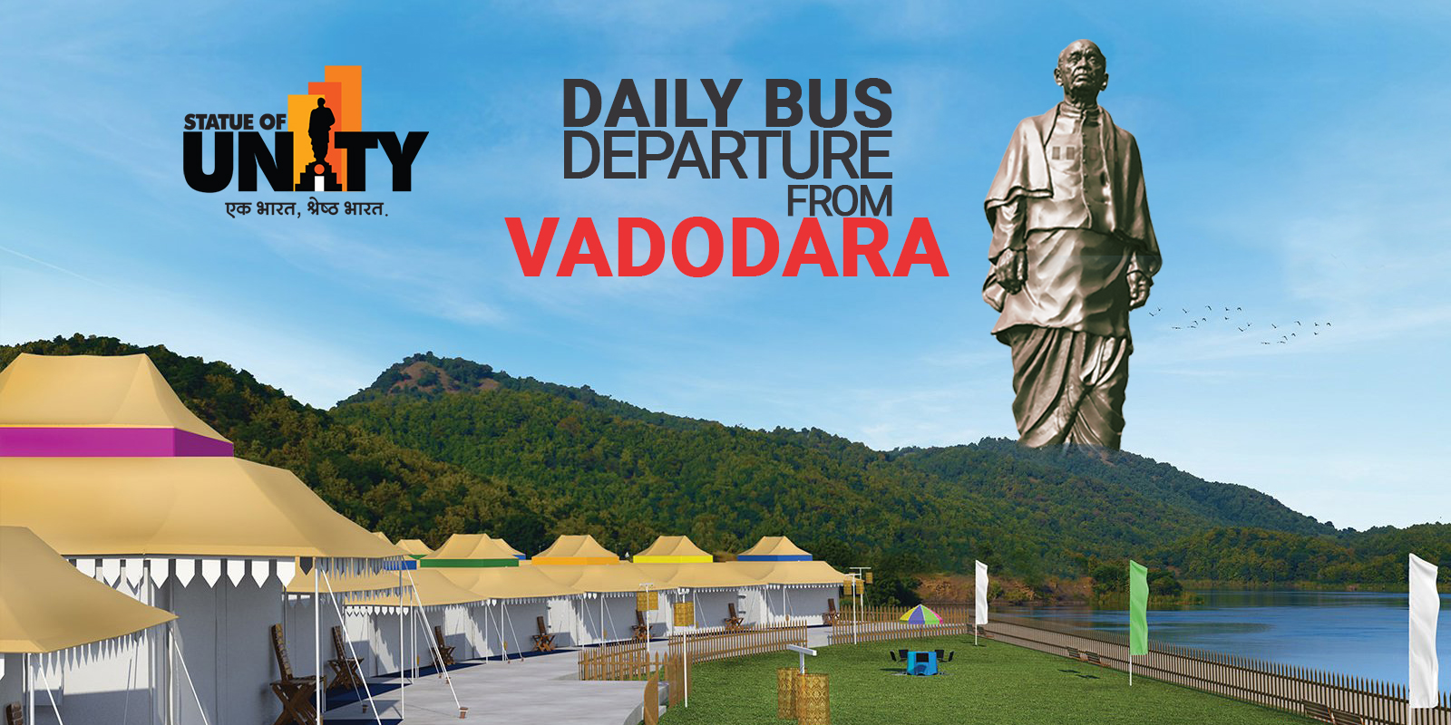 Statue of Unity Tent City